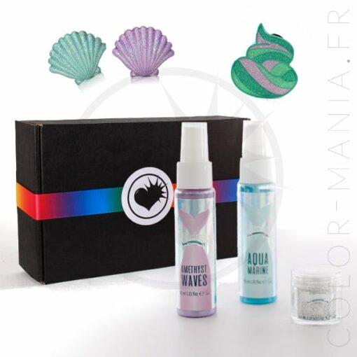 Kit mermaid make up et sprays cheveux