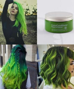 Cuidado de repigmentación verde intenso de Lush Green | Color-Mania