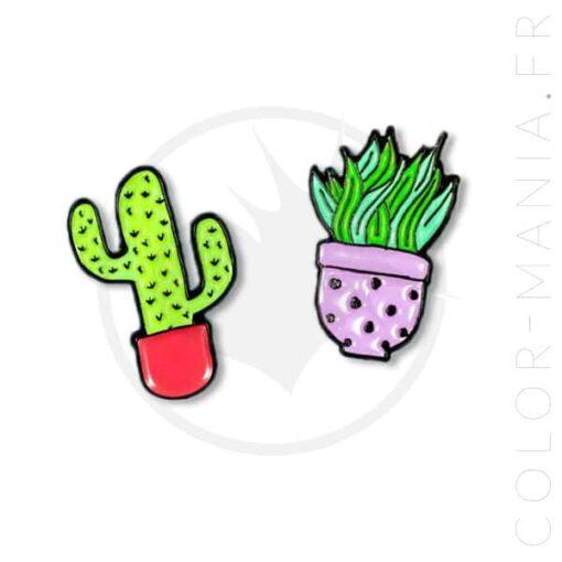 Pin's Duo de Petits Cactus   Color-Mania