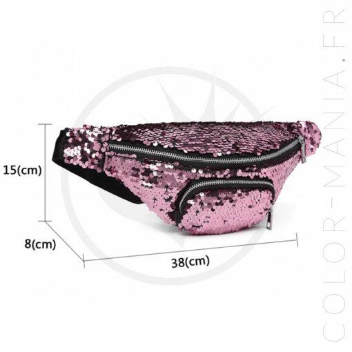 Bolso rosado del plátano de las lentejuelas | Color-Mania