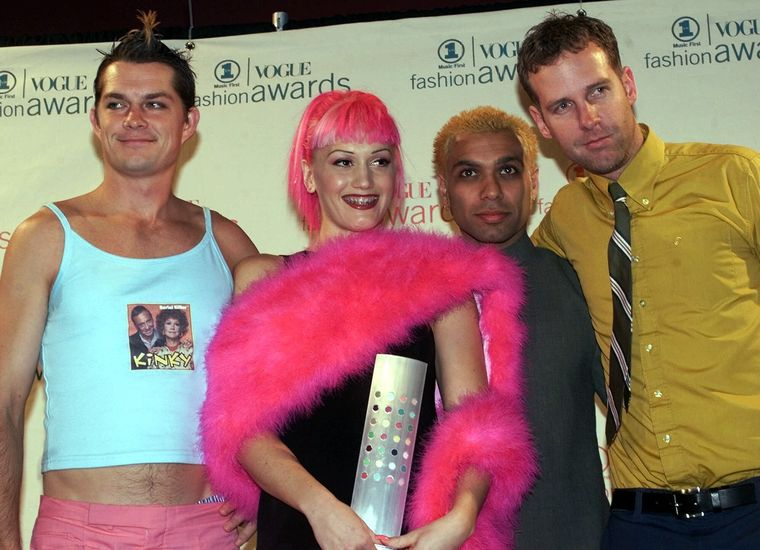Groupe No Doubt avec coloration cheveux Manic Panic