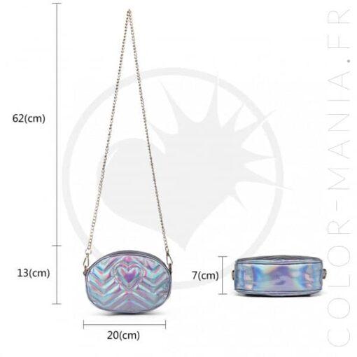 Dimension sac à main holographique