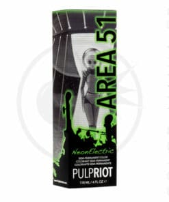 Packaging coloration cheveux Area 51 Vert UV Pulp Riot