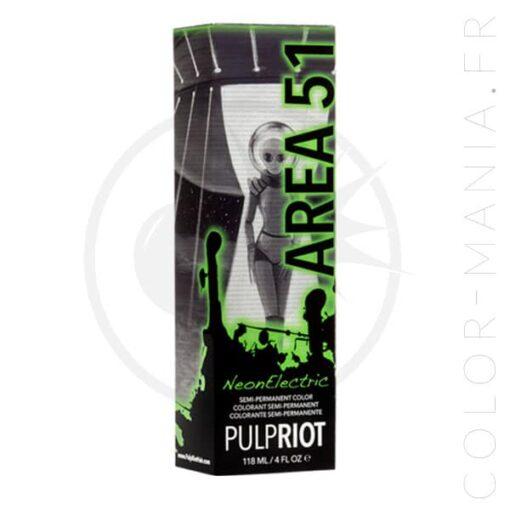 Coloration Cheveux Vert Area 51 UV - Pulp Riot | Color-Mania