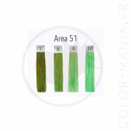 Coloración del cabello verde UV Area 51 - Pulp Riot | Color-Mania