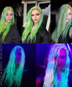 Merci Laura :) Coloration Cheveux Vert UV Area 51 - Pulp Riot | Color-Mania