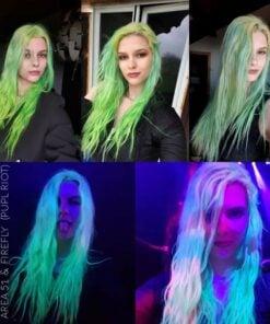 Grazie Laura :) Colore dei capelli UV Green Area 51 - Pulp Riot | Color-Mania