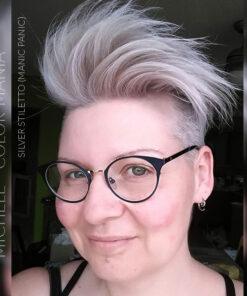 Merci Michèle :) Coloration Cheveux Toner Argenté Silver Stiletto - Manic Panic   Color-Mania