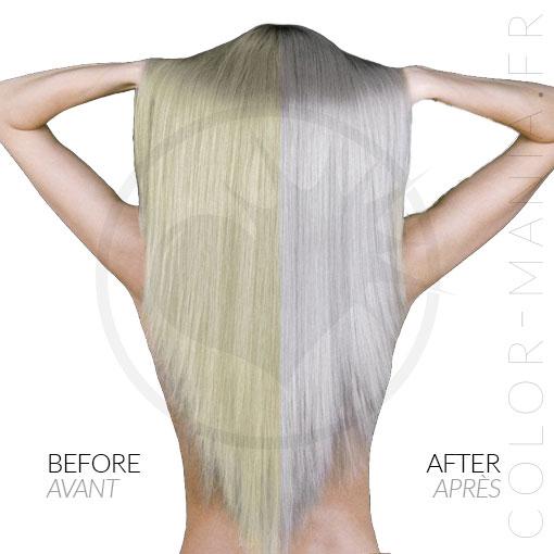 Résultat estimé de la coloration cheveux grise Manic Panic