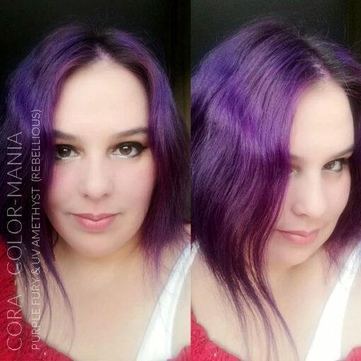 Merci Cora :) Coloration Cheveux Violet Purple Fury - Rebellious | Color-Mania