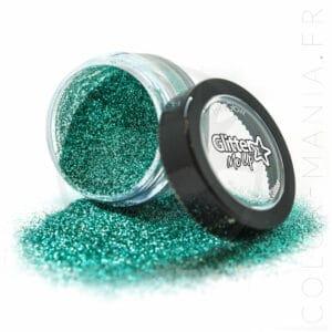 Fines Paillettes Biodégradables Vert d'Eau Aqua Marine - PaintGlow | Color-Mania.fr