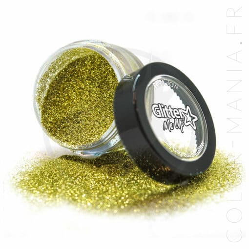 Fines Paillettes Biodégradables Doré Gold Dust - PaintGlow | Color-Mania.fr
