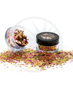 Paillettes Biodégradables Rose Gold - PaintGlow | Color-Mania.fr