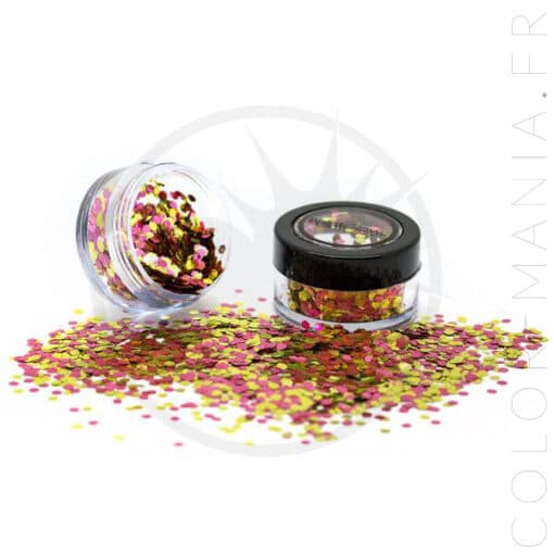 Paillettes Biodégradables Rose Gold - PaintGlow | Color-Mania.fr