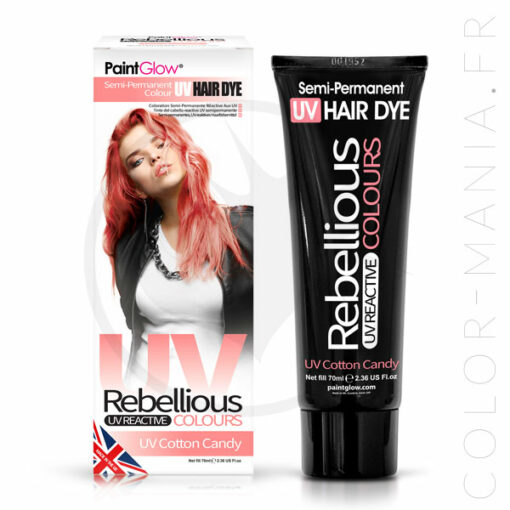 Coloration Cheveux Rose UV Cotton Candy - Rebellious | Color-Mania.fr