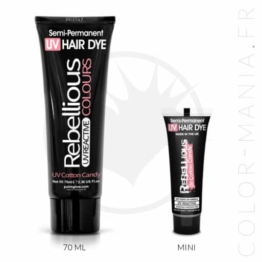 Coloration Cheveux Rose UV Cotton Candy - Rebellious | Color-Mania