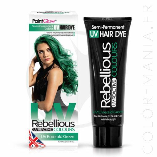 Coloration Cheveux Vert UV Emerald Green- Rebellious | Color-Mania.fr
