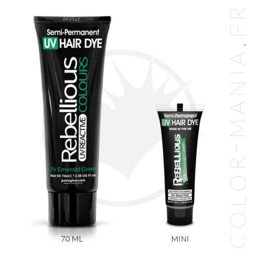 Coloration Cheveux Vert UV Emerald Green- Rebellious | Color-Mania