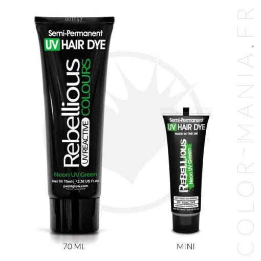 Coloration Cheveux Vert Neon UV Green - Rebellious | Color-Mania