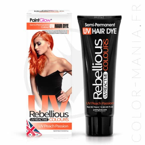 Coloration Cheveux Orange UV Peach Passion - Rebellious | Color-Mania.fr