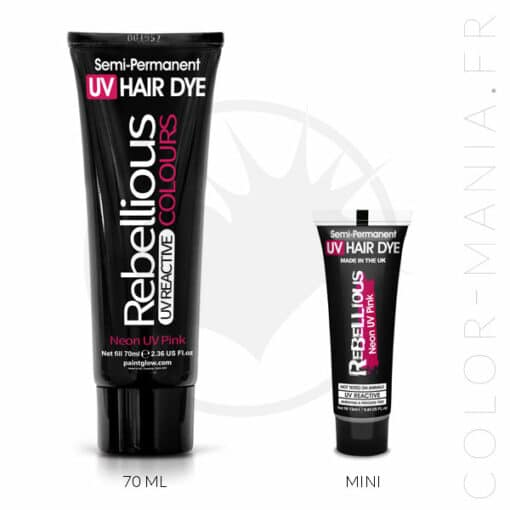 Coloration Cheveux Rose Neon UV Pink - Rebellious | Color-Mania
