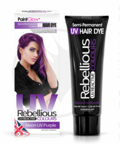 Coloration Cheveux Violet Neon UV Purple - Rebellious | Color-Mania.fr