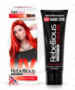 Coloration Cheveux Rouge Neon UV Red - Rebellious | Color-Mania.fr