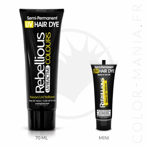 Coloration Cheveux Jaune Neon UV Yellow - Rebellious | Color-Mania