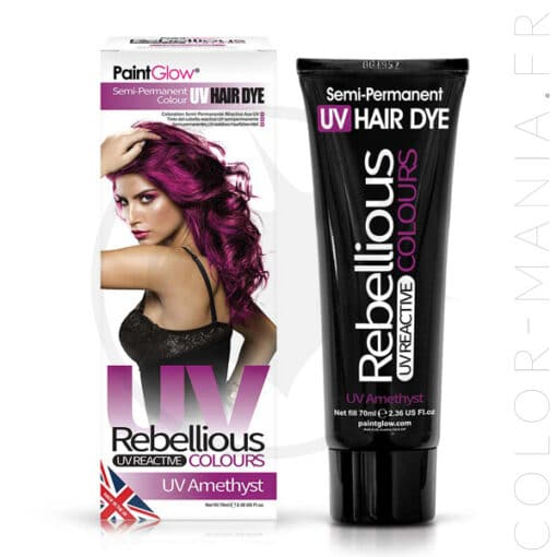Coloration Cheveux Violet UV Amethyst - Rebellious | Color-Mania.fr
