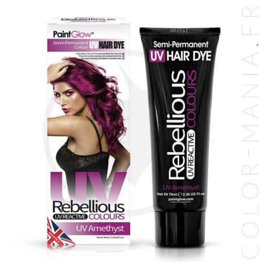 Coloration Cheveux Violet UV Amethyst - Rebellious | Color-Mania.fr