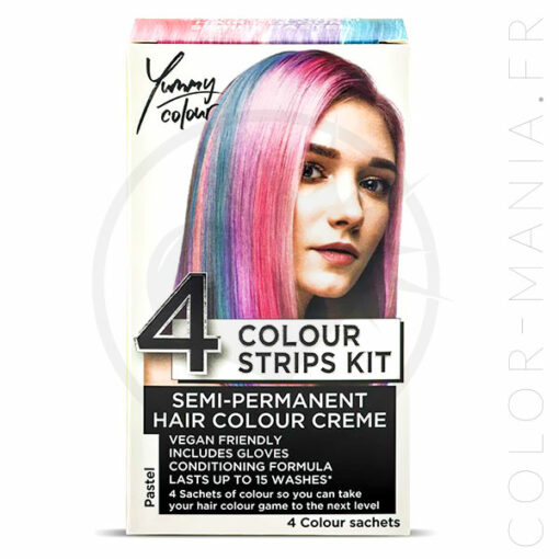 Kit 4 Colorations Mèches Pastel - Yummy Colour | Color-Mania.fr