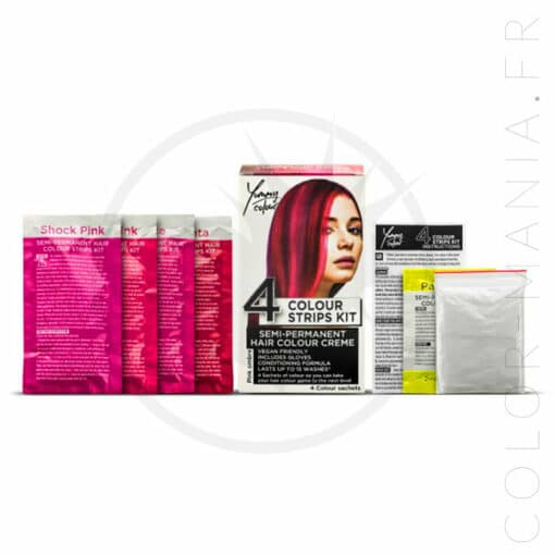 Kit 4 Colorations Mèches Ombré Rose - Yummy Colour | Color-Mania.fr