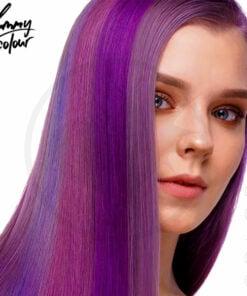 Kit 4 Colorations Mèches Ombré Violet - Yummy Colour   Color-Mania.fr