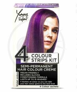 Kit 4 Colorations Mèches Ombré Violet - Yummy Colour | Color-Mania.fr