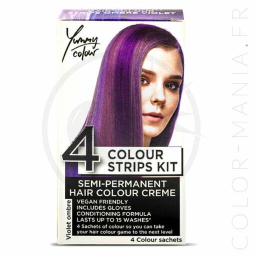 Kit 4 Colorations Mèches Ombré Violet - Yummy Colour | Color-Mania.fr