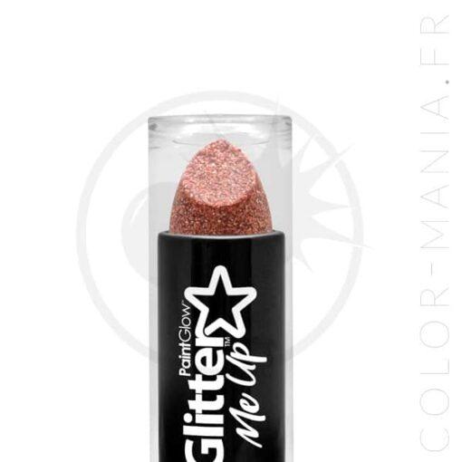 Rouge à Lèvres Paillettes Rose Gold Holographique | Color-Mania.fr