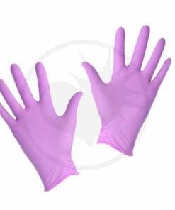 Paire de Gants Nitrile violet pastel | Color-Mania.fr