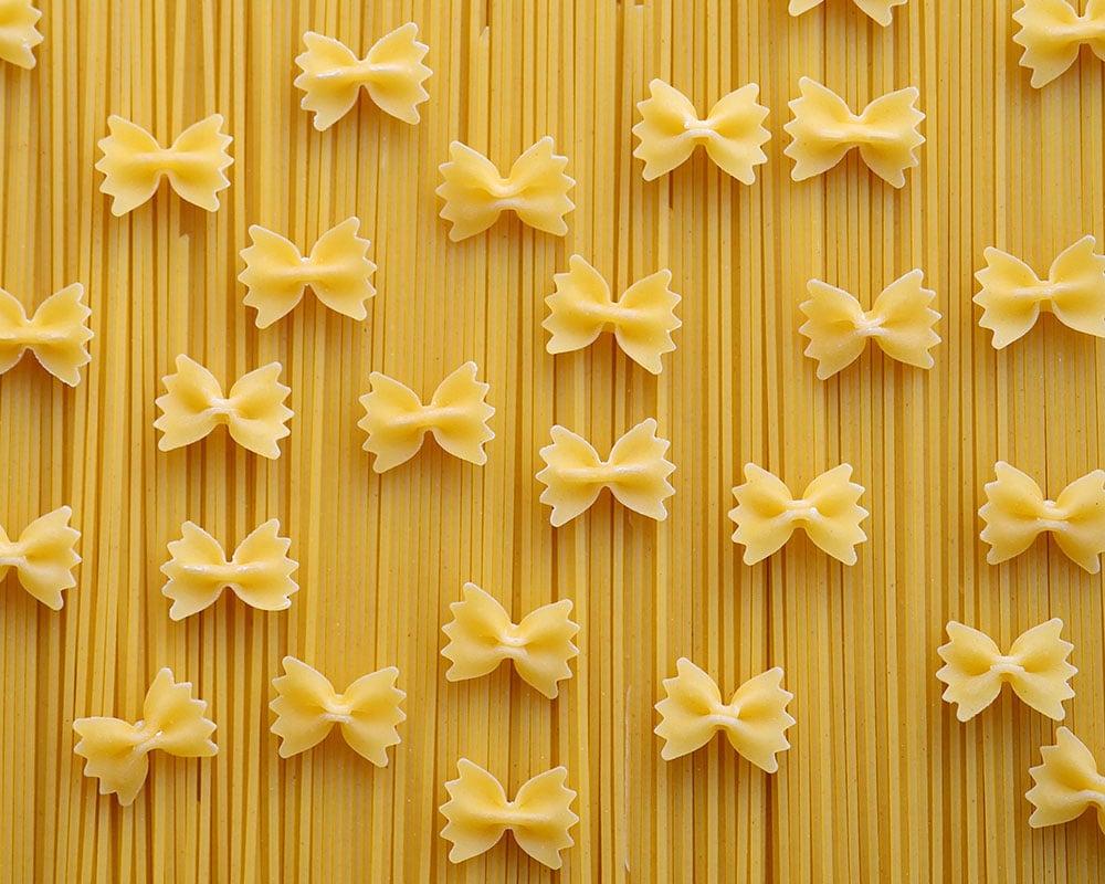 Photographie de pâtes sèches