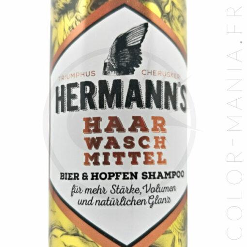 Etiquette shampoing homme à la bière et au houblon - Color-Mania.fr