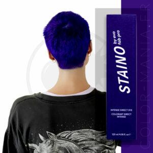 Coloration Cheveux Directe Intense Bleu Ultramarine - Staino EVO | Color-Mania