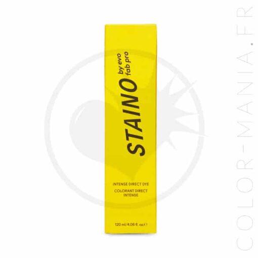 Emballage coloration cheveux jaune vif de la marque Staino Evo