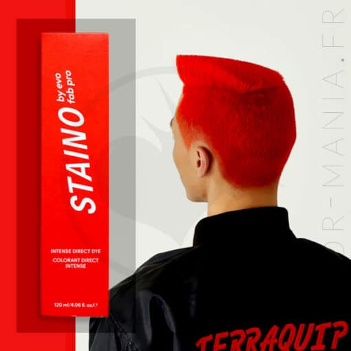 Coloration Cheveux Directe Intense Rouge Feu - Staino EVO | Color-Mania