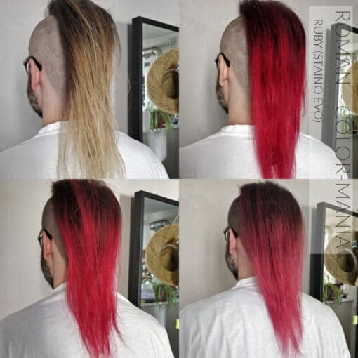 Merci Roman :) Coloration Cheveux Directe Intense Rouge Rubis - Staino EVO   Color-Mania