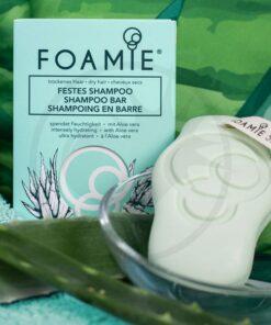 Foamie - Shampoo Bar Aloe You Vera Much (pour cheveux secs) | Color-Mania