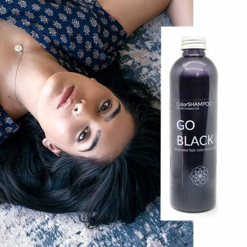 Shampoing Coloré Cheveux Noirs - Go Black | Color-Mania