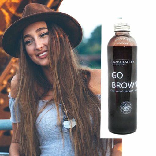 Shampoing Coloré Cheveux Châtains - Go Brown | Color-Mania