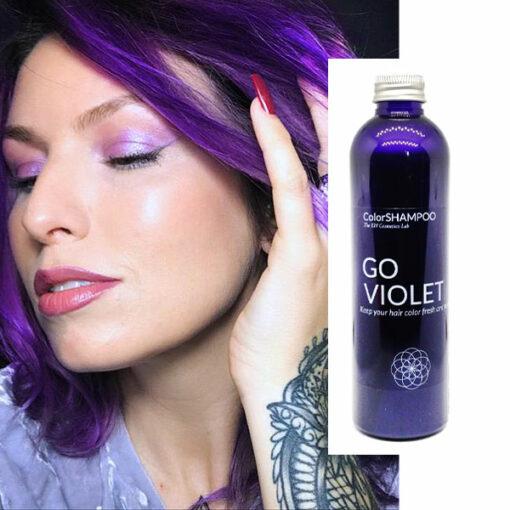 Shampoing Coloré Cheveux Prune - Go Violet | Color-Mania