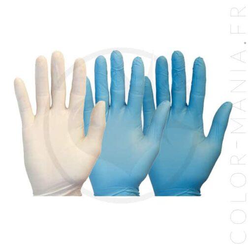 Gants Coloration Nitrile Assortis - Sachet de 2 paires | Color-Mania