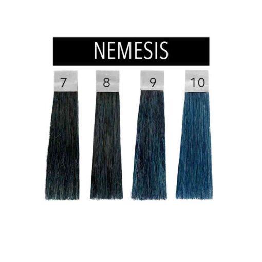Nuancier couleur cheveux bleu Nemesis Pulp Riot