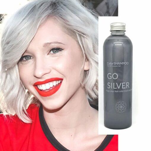 Shampoing Coloré Cheveux Gris - Go Silver | Color-Mania